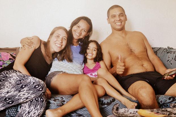 Con la familia de Couchsurfing