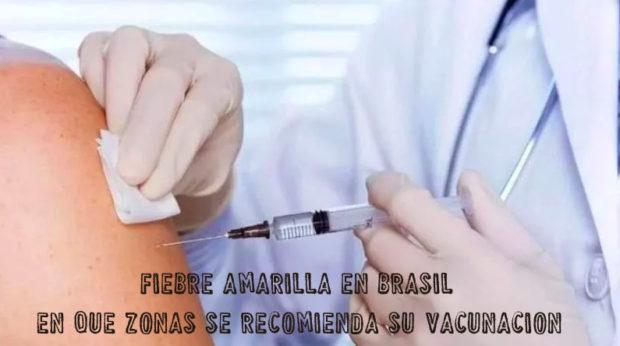 Fiebre amarilla en Brasil: ¿En qué zonas se recomienda su vacunación?