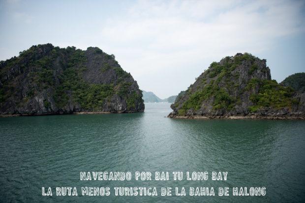 Navegando por Bai Tu Long Bay, la ruta menos turística de la Bahía de Halong