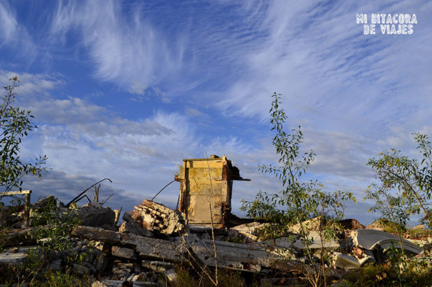 Paisaje de las ruinas en epecuén