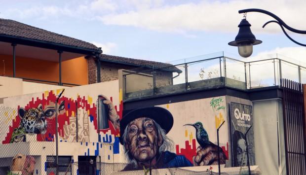 Arte callejero en Quito
